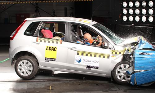 The Figo Was Able To Meet UNs Minimum Safety Requirements In 56km H Crash Test As Drivers Head Narrowly Avoided Direct Contact With