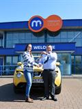 Emma Trott with Motorpoint Newport's Ross Padfield
