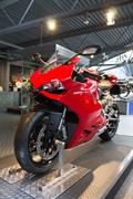 Ducati 899  Panigale on plinth in Motorcycle Story