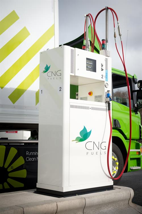CNG Fuels biomethane pump