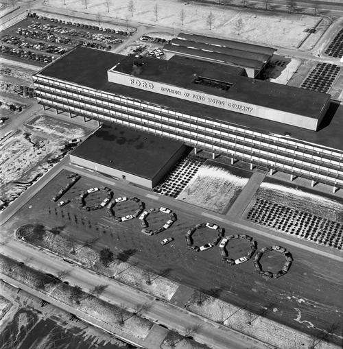 The Rouge assembly plant in Dearborn