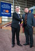 L:R Adam Gilmore, lah, GM of Motorpoint Glasgow with Alan Burrows