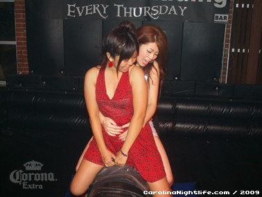 Bikini Bull Riding contest Thursday nights at BAR Charlotte - Photo #22640