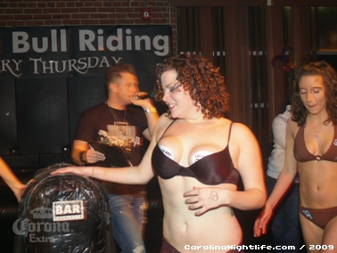 Bikini Bull Riding contest Thursday nights at BAR Charlotte - Photo #22646