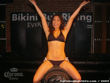Bikini Bull Riding contest Thursday nights at BAR Charlotte - Photo #22652