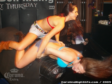 Bikini Bull Riding contest Thursday nights at BAR Charlotte - Photo #22656