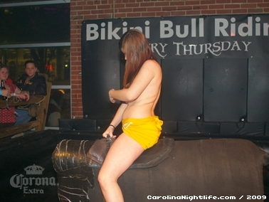 Bikini Bull Riding contest Thursday nights at BAR Charlotte - Photo #22657