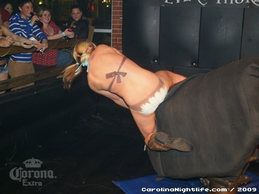 Bikini Bull Riding contest Thursday nights at BAR Charlotte - Photo #22660