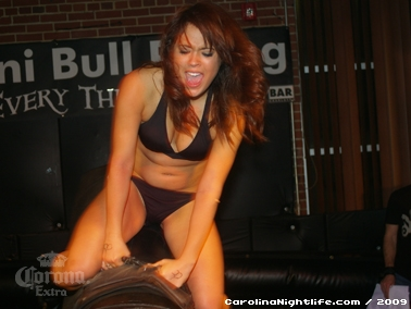 Bikini Bull Riding contest Thursday nights at BAR Charlotte - Photo #22671