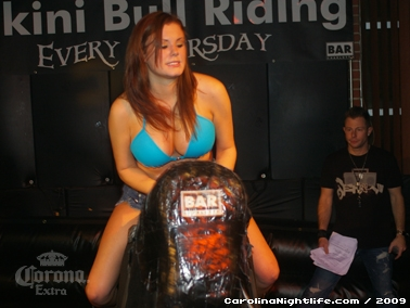 Bikini Bull Riding contest Thursday nights at BAR Charlotte - Photo #22673
