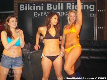 Bikini Bull Riding contest Thursday nights at BAR Charlotte - Photo #22678