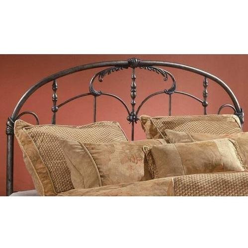 Hillsdale Jacqueline Brushed Pewter Metal Headboard Without Frame - King - 1293-670