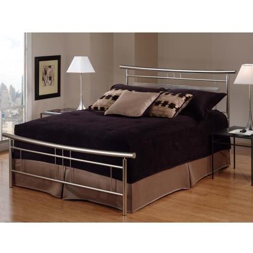 Hillsdale Soho Brushed Nickel Metal Bed Set Without Frame - Full - 1331-460