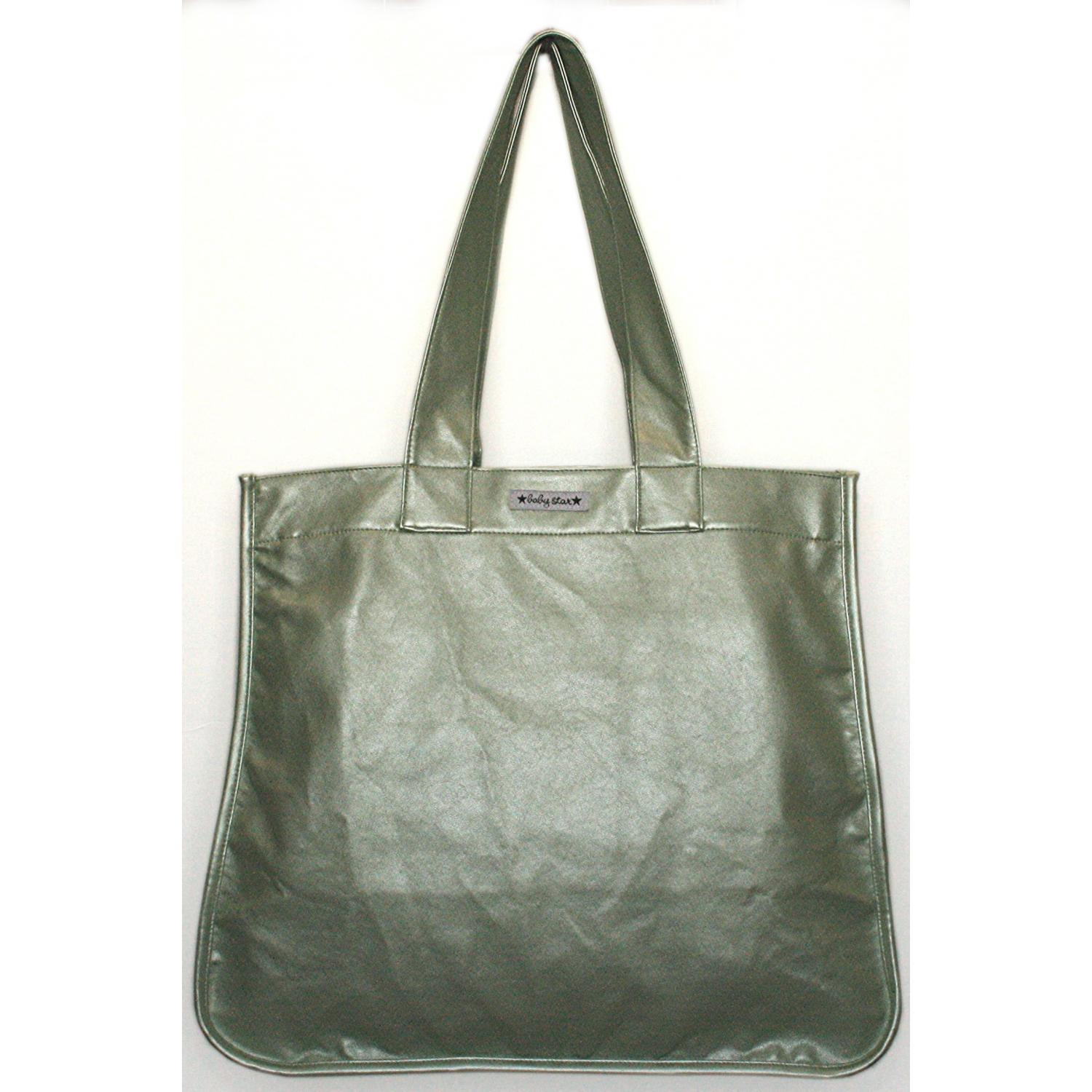Baby Star Rock The Tote Metallic Diaper Bag - Green.