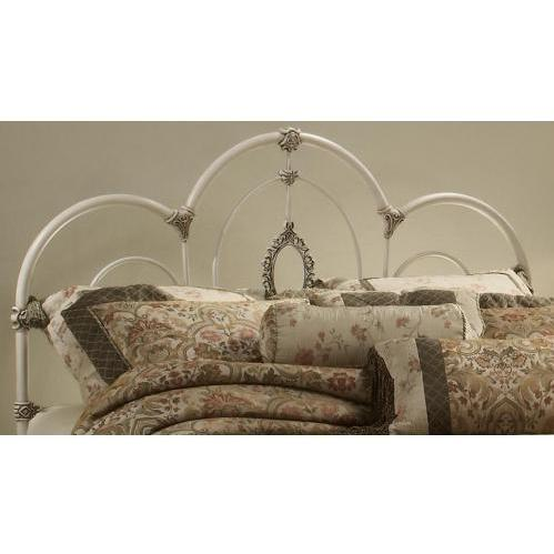 Hillsdale Victoria Antique White Metal Headboard With Frame - King - 1310HKR
