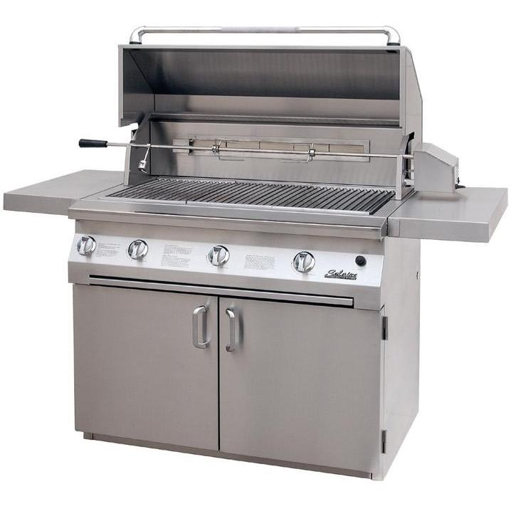 Solaire Gas Grills 42 Inch All Convection Propane Gas Grill With Rotisserie On Cart 2703838