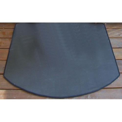 The Blue Rooster 36 X 36 Half Round Fire Resistant Deck Pad