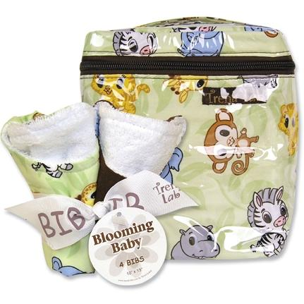 Trend Lab Bottle Bag And Bib Set - Chibi Zoo
