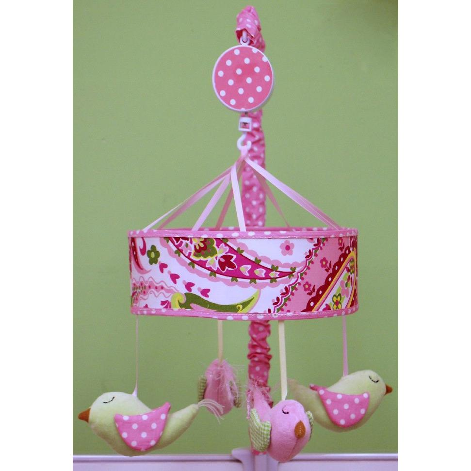 My Baby Sam Crib Mobile - Pink Paisley Splash