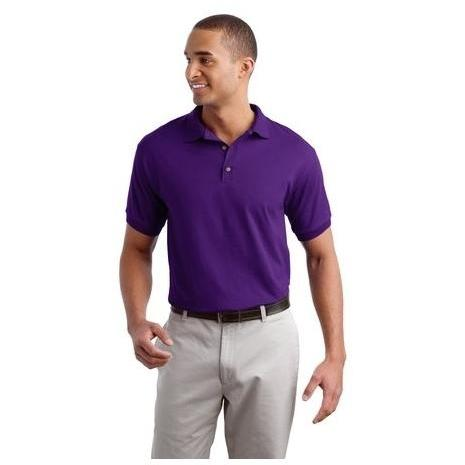 Gildan Ultra Blend 5.6-Ounce Jersey Knit Polo Shirt Large - Purple