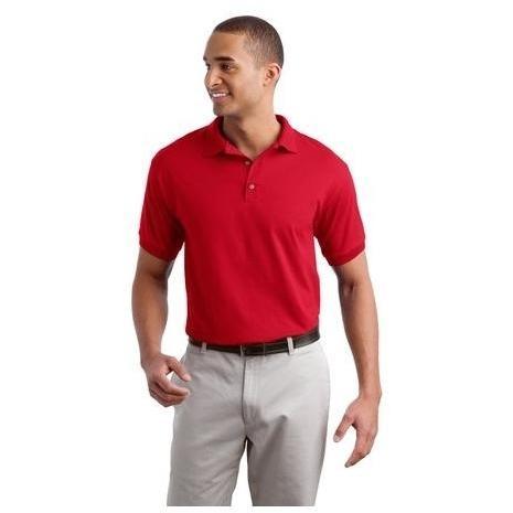 Gildan Ultra Blend 5.6-Ounce Jersey Knit Polo Shirt Large - Red