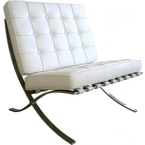 Tearlach Steel Frame Leather Chair In White.