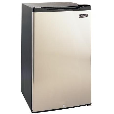 Fire Magic 4.2 Cu. Ft. Compact Refrigerator - Stainless Steel Door / Black Cabinet - 3590A