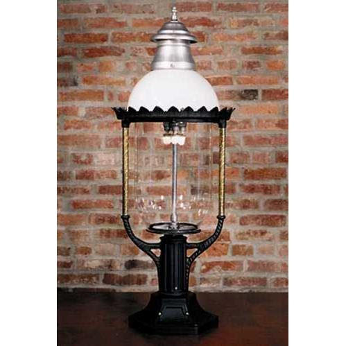 Gaslite America GL36 Cast Aluminum Manual Ignition Natural Gas Light With Open Flame Burner And Pedestal Mount