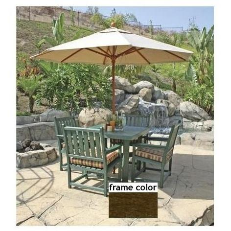 Eagle One Recycled Plastic Carmel Patio Dining Set - Brown