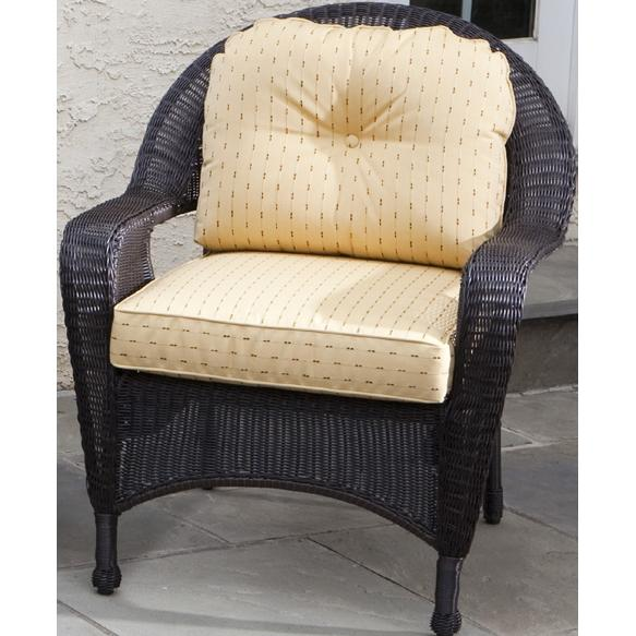 Alfresco Home Amelia Deep Seating All-Weather Wicker Lounge Chair - Sable Brown