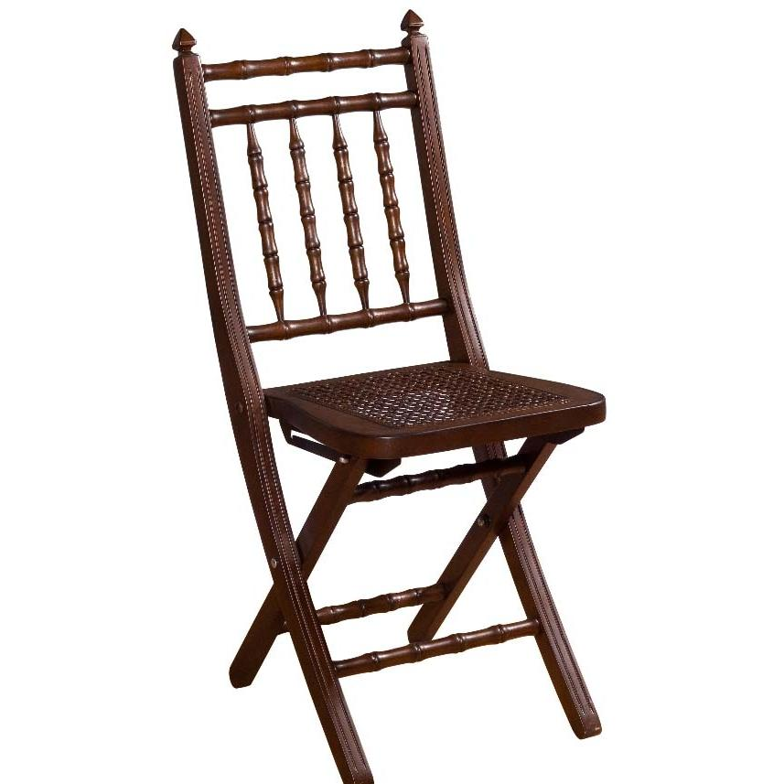 Hillsdale Clermont Mahogany Folding Chair - 63704