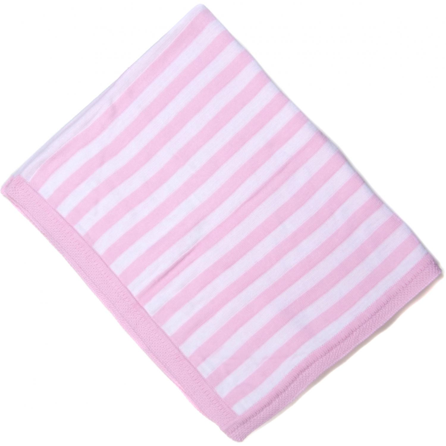 Elegant Baby Striped Baby Blanket - Pink