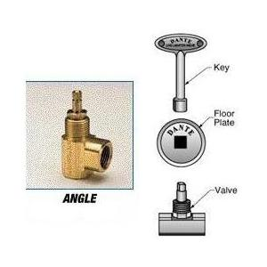 Blue Flame Angle Fireplace Valve Kit- Chrome