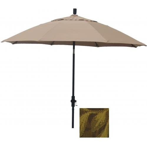 Casual Creations 12 Rib Flat Top Garden Umbrella With Extension With C0837 Fabric