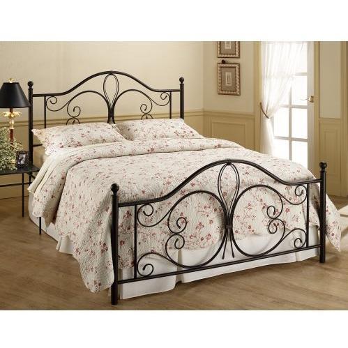 Hillsdale Milwaukee Antique Brown Metal Bed Set With Frame - King - 1014BKR