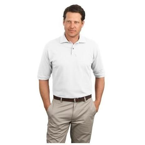 Jerzees 6.1-Ounce Jersey Knit Polo Shirt Large - White