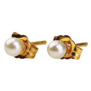 Elegant Baby Infant Gold Pearl Earrings