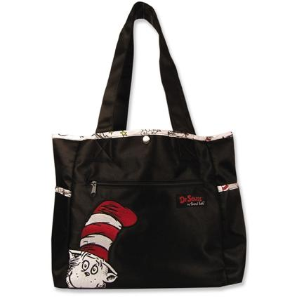 Trend Lab Embroidered Dr Seuss Cat In The Hat Tulip Diaper Bag.