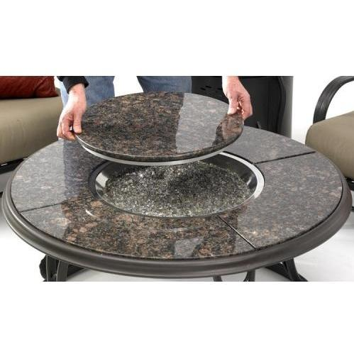 Nice Outdoor GreatRoom Company 42 Inch Fire Pit Table | Granite Top | Lazy Susan Design Ideas