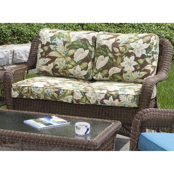 Alfresco Home Cayman Deep Seating All-Weather Wicker Love Seat - Coconut