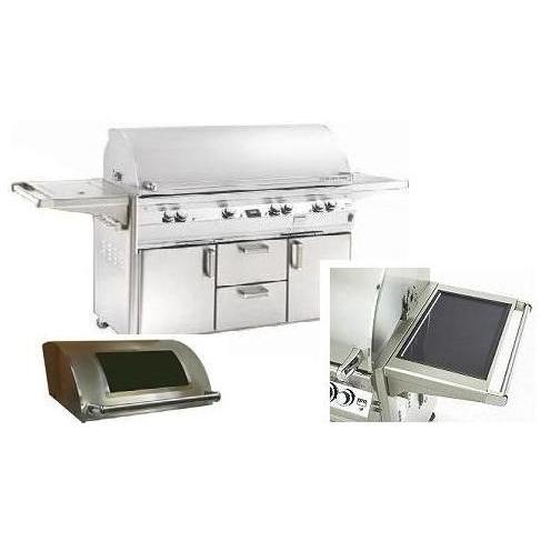 Fire Magic Gas Grills Echelon E1060s All Infrared Propane Gas Grill With Solar Panel, Single Side Burner & Magic View Window On Cart