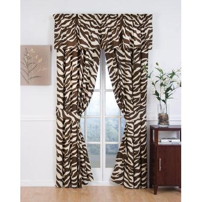 Karin Maki Window Curtain - Zebra Brown