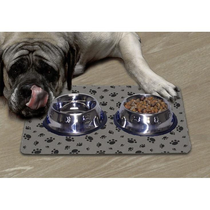 DryMate Large Pet Bowl Place Mat - Grey