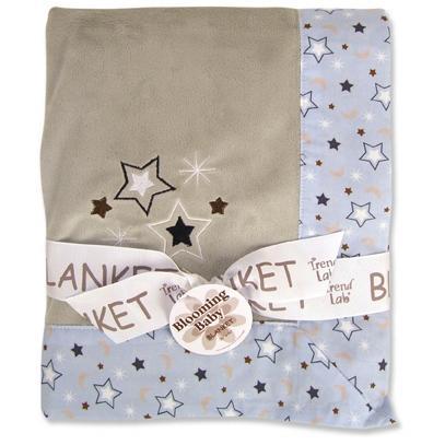 Trend Lab Velour Framed Baby Blanket - Rockets 2635524