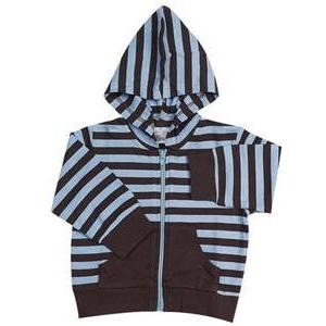 Elegant Baby Striped Hoodie Jacket 6 Months - Blue Chocolate