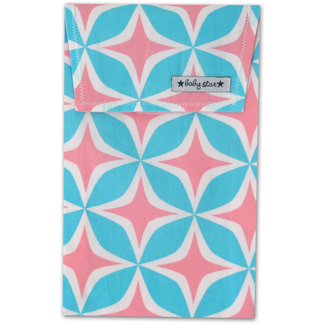 Baby Star Quick Change Diaper Pouch - Four Square Pink.