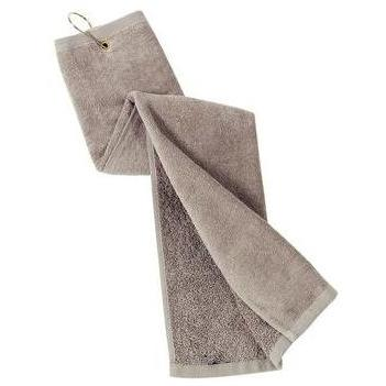 Port Authority Grommeted Tri-Fold Golf Towel - Khaki
