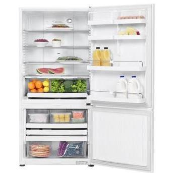 Fisher Paykel E522BRE 17.3 Cu. Ft. Capacity ActiveSmart Right Hinge Refrigerator - White