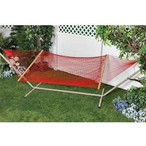Bliss Hammocks Classic Cotton Rope Hammock Red