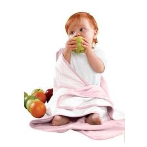 Apples & Oranges Jordan Baby Blanket - Rosey Cheeks